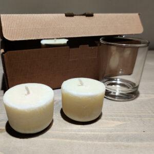 Bougies parfumées calmantes +verre