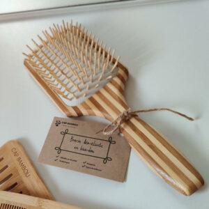 Brosse à cheveux bambou